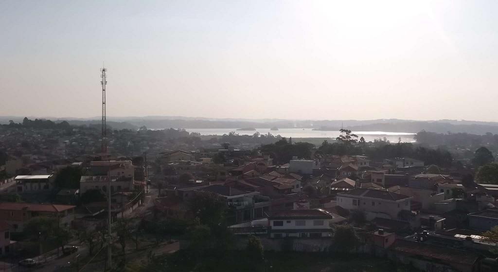 Vista para a represa Guarapiranga