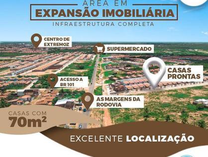 Ver mais detalhes de Casa com 1 Dormitórios  em Centro - Loteamento Santos Dumont - Extremoz/RN