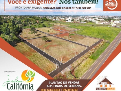 Ver mais detalhes de Terreno com 0 Dormitórios  em JARDIM CALIFÓRNIA - Araguaína/TO